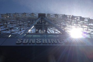 Sunshine shining through the Sunshine Sakae Ferris Wheel