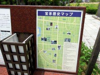 Mapa histórico da área