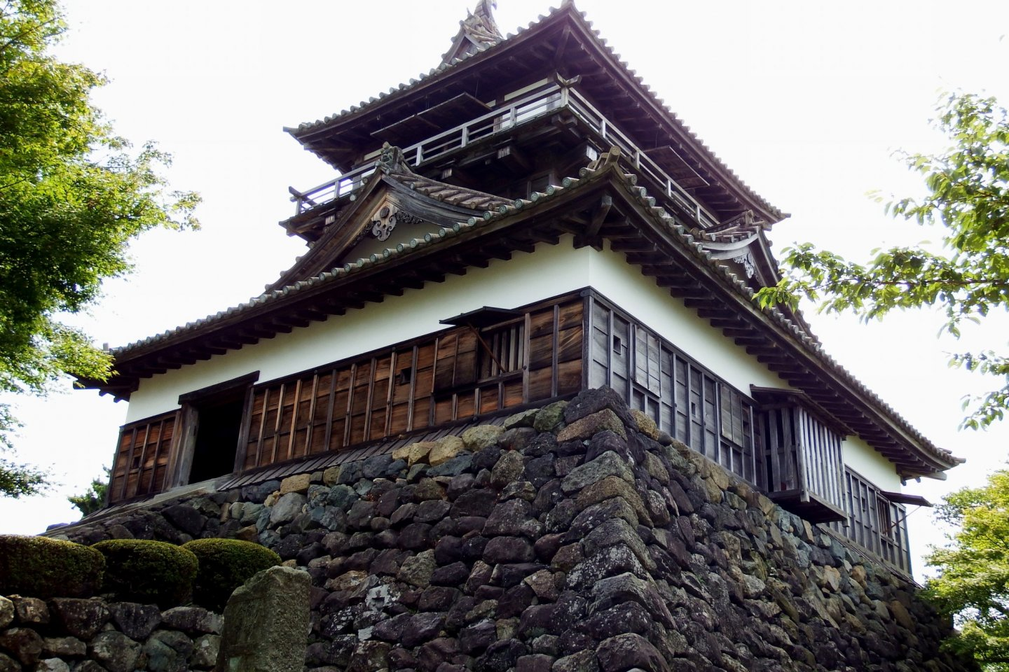 Maruoka Castle. This is the oldest wooden castle that still stands in Japan, and was originally built in 1576