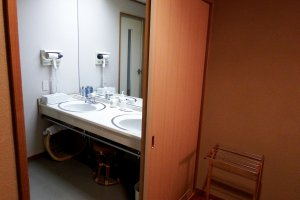 Each room is equipped with a bathroom, and a dressing room with two wash basins