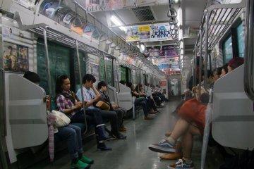 Yamanote Line's interior