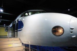 Visitors can board a Series 0 Shinkansen,the first train that ran between Tokyo and Osaka