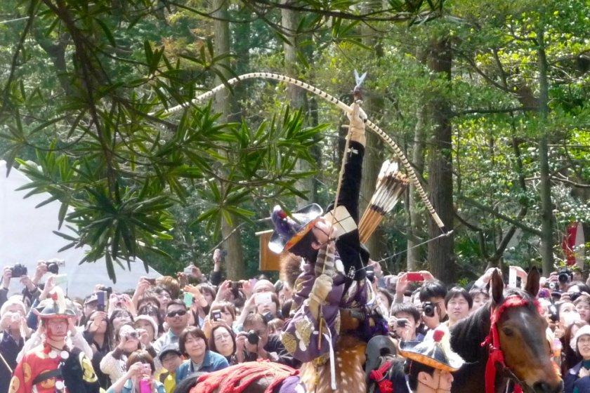 Yabusame procession and demonstration