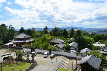 A view from the balcony of Nigatsu-do Hall