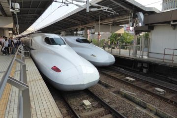 First Time on The Shinkansen