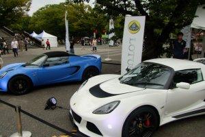 Lotus showcasing their sports cars