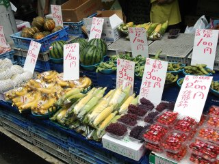 Seasonal fruit and vegetables are another main part of the market, exploding with color and freshness