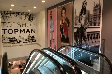 <p>Top Shop: a clothing store from the UK</p>