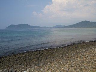 Looking east toward Nogita Beach