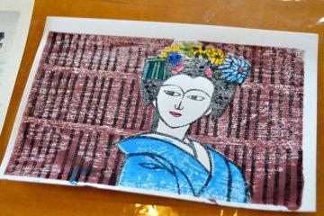 ลองทำภาพพิมพ์ไม้แบบญี่ปุ่น