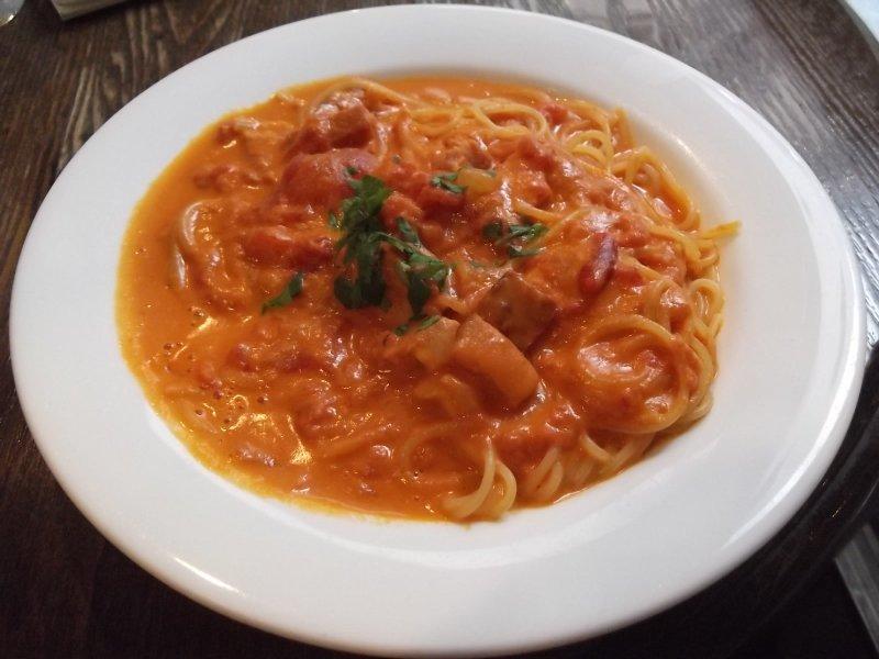 <p>My dinner, the &#39;Aurora&#39; tomato cream sauce pasta</p>