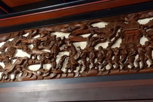 Beautiful wood carvings that withstood time.