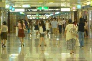 Central Park underground shopping complex, Nagoya.