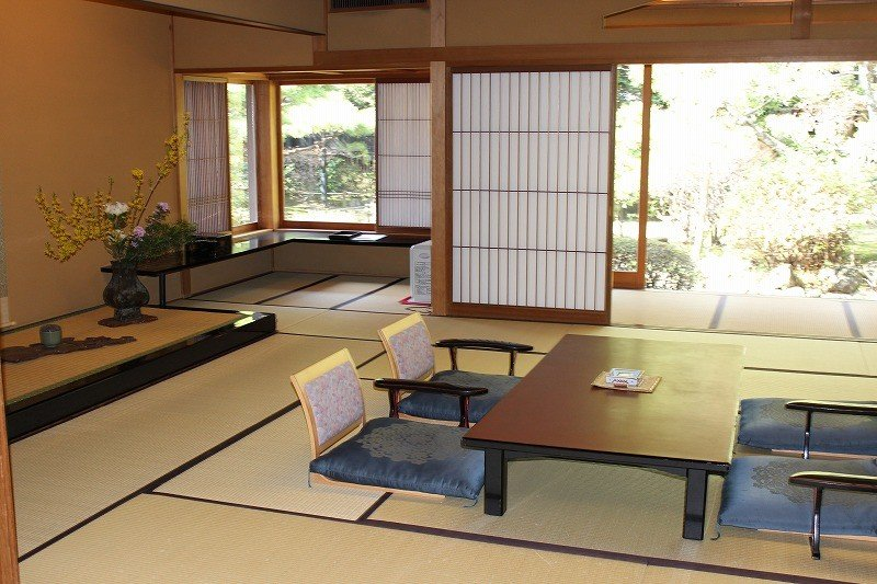 Tatami rooms with low seating