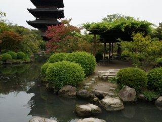 เจดีย์ที่วัด Toji เป็นเจดีย์และโครงสร้างไม้ที่สูงที่สุดในญี่ปุ่น ทุกครั้งที่คนญี่ปุ่นเห็นเจดีย์ 5 ชั้นจะนึกถึงเจดีย์นี้และเกียวโต