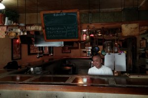 Inside side bar counter, and kitchen view