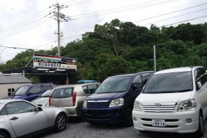 Lot view of Rainbow Renta-car, Okinawa