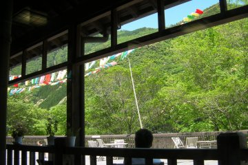 View from the onsen restaurant