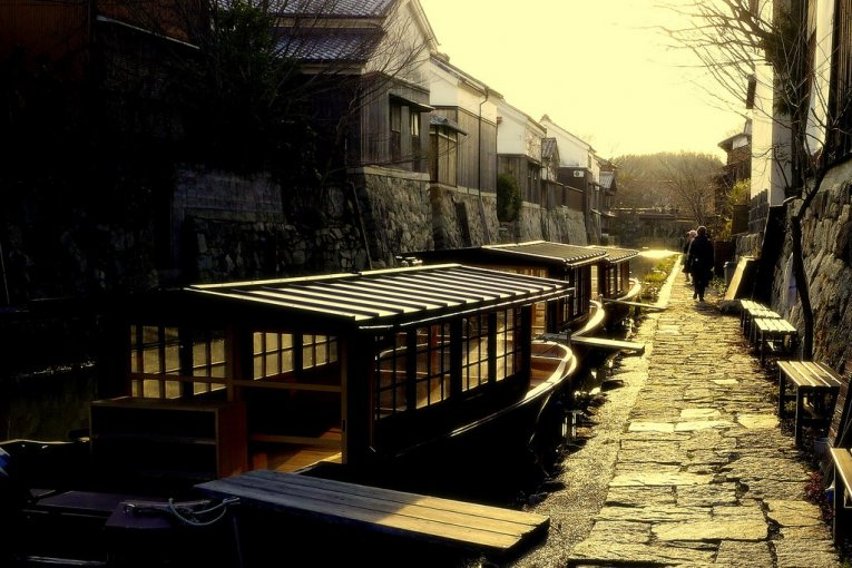 Kanal Omi-Hachiman di Musim Dingin
