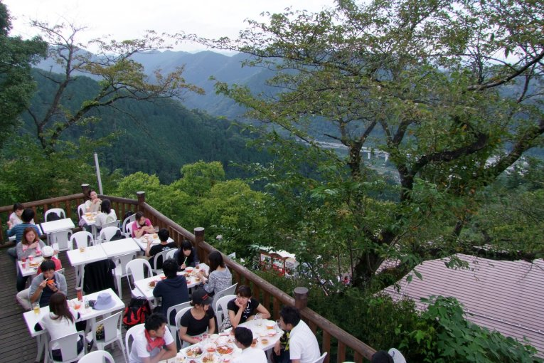 Beer Garden on Top of Mt. Takao