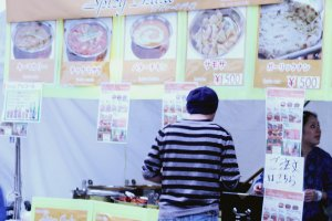 A stall with Indian food