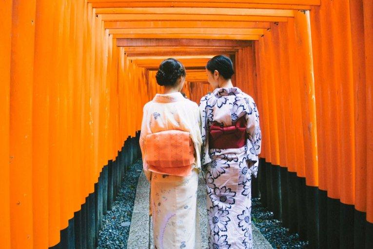Kuil Fushimi Inari di Kyoto