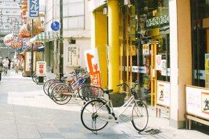 Sepeda menjadi salah satu transportasi utama di Osaka