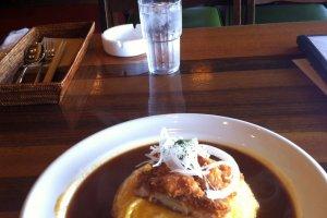Golden Curry with chicken katsu