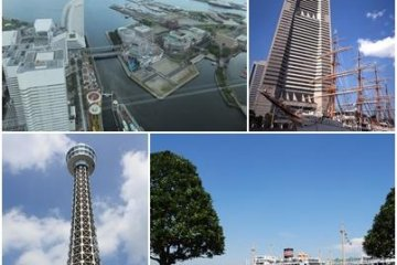 Sights from high places in Yokohama
