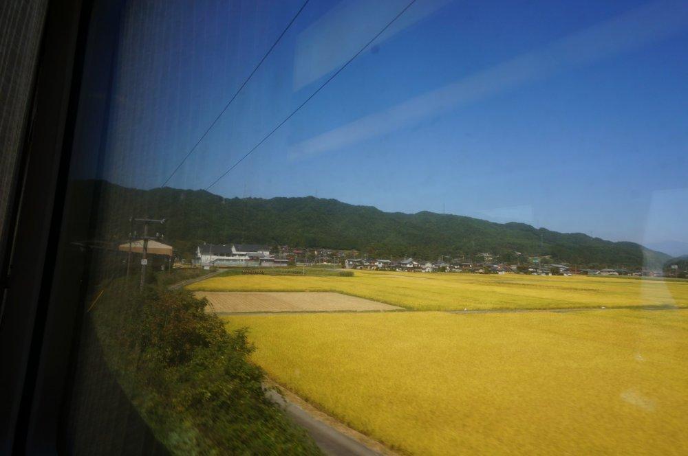 โชว์หน้าต่างกว้างบน (wide view) hida ไป takayama