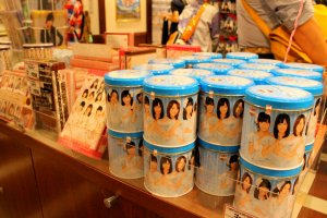 AKB48 food souvenirs in assorted shapes and colors for keeps