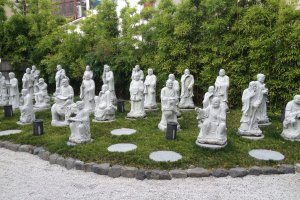 Statues as you walk in