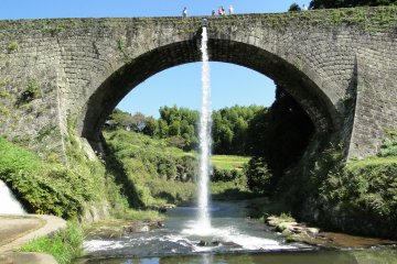 <p>The water trickles down to nothing as the pipes are stopped up once more</p>