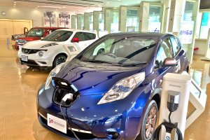 Three of the four Nissan models manufactured at the Oppama plant are showcased in the Guest Hall