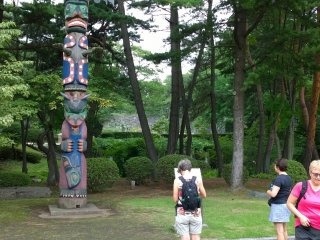 A Canadian totem pole in Iwate park