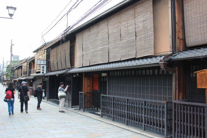 祇園新橋地区の町屋
