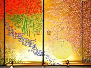 日本の四季を凝縮した襖絵