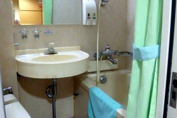 <p>We didn&#39;t need this bathtub as the segregated communal baths were really nice.</p>