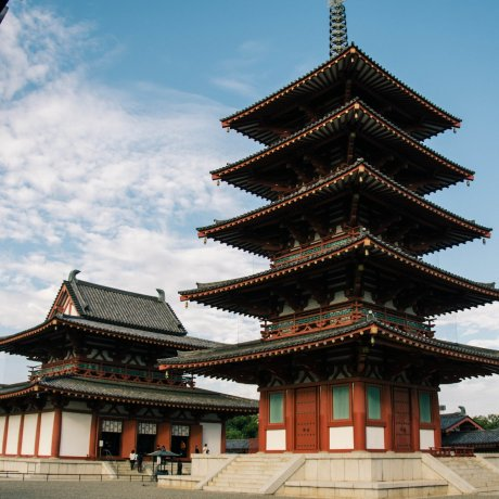 Ancient Shitennoji Temple in Osaka