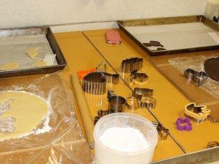 미리 조개해 둔 반죽을 더 늘리고, 파격적으로 구워내는 쿠키 만들기 체험
