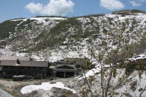 The onsen itself, nestled at the bottom of Mount Annupuri