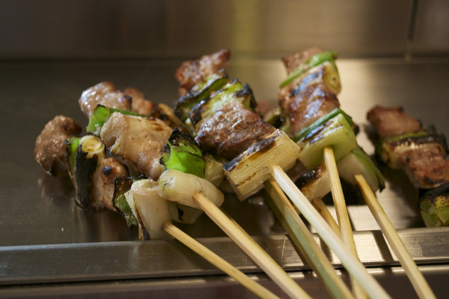 Yakitori hot off the grill