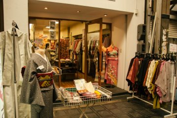 Used Kimono shop is great for tourists wanting to buy a souvenir.