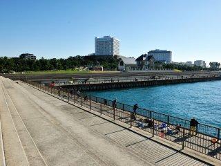 休日、ここの公園はズラッと釣竿が並ぶ 憩いの広場だ