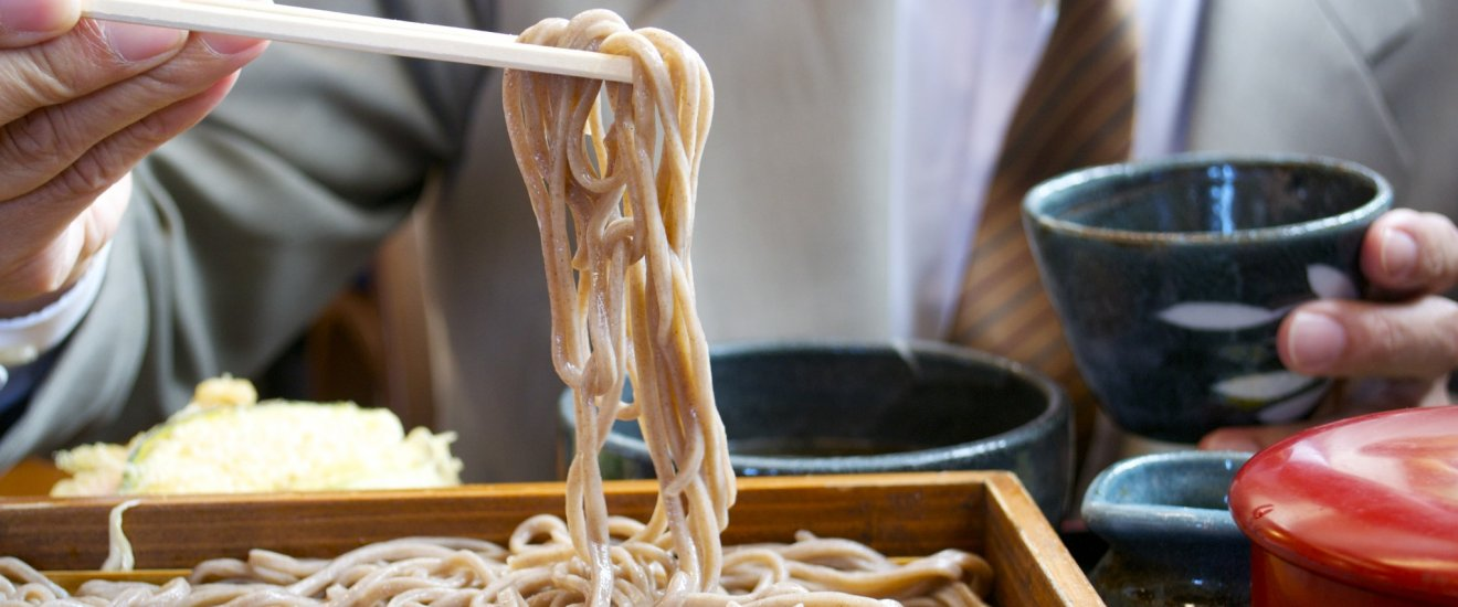 Delicious soba at Ichian Soba restaurant in Tendo