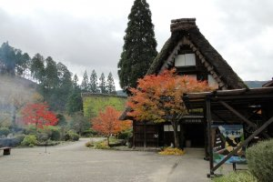 A shot of some of the houses, moved from Shirakawa-go