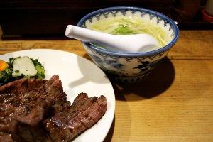 Gyutan and ox tail soup