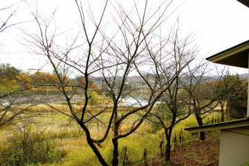 <p>Lake Takubo Numa as seen from the hotel room window</p>