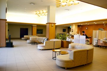 <p>The lobby is supplied with comfortable sofas&nbsp;</p>