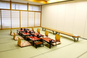 <p>The hotel also includes a room for traditional Japanese ceremonies and parties with all comforts</p>